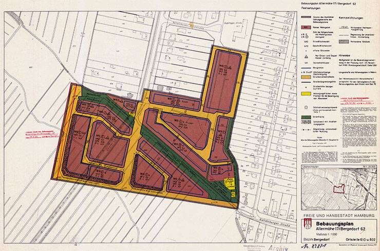Bebauungsplan Allermöhe 17 - Bergedorf 62 Plan