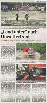 Bergedorfer Zeitung 11.5.18 - Land unter nach Unwetterfront