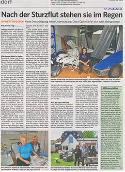 Bergedorfer Zeitung 19.5.2018 Nach der Sturzflut stehen sie im Regen