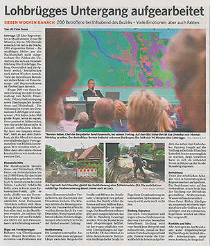 Bergedorfer Zeitung 28.6.18 - Lohbrügges Untergang aufgearbeitet