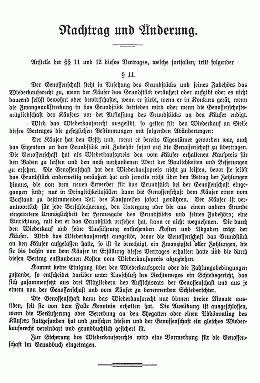 Kaufvertrag für ein Grundstück in Nettelnburg von 1922 Nachtrag
