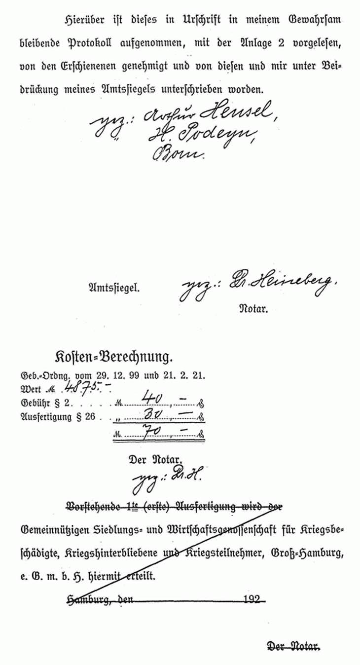 Kaufvertrag für ein Grundstück in Nettelnburg von 1922 Seite 3