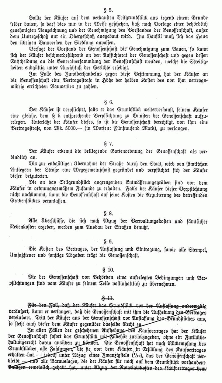 Kaufvertrag für ein Grundstück in Nettelnburg von 1922 Seite 2