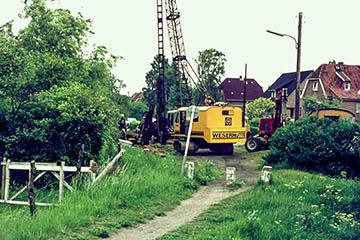 Bauarbeiten zur Erschließung von Nettelnburg Süd, Nettelnburger Straße, Püttenhorst 1, 1975-1976