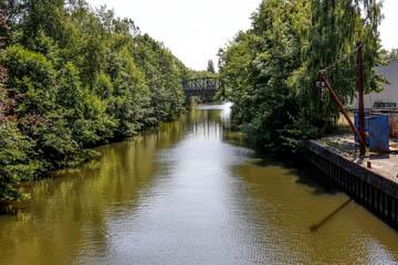 Schleusengraben in Nettelnburg, Verbindung vom Serrahn in Bergedorf zur Krapphofschleuse, Foto: Wasserverband Nettelnburg