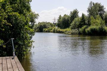 Schleusengraben in Nettelnburg, Verbindung vom Serrahn in Bergedorf zur Krapphofschleuse, Foto:Wasserverband Nettelnburg