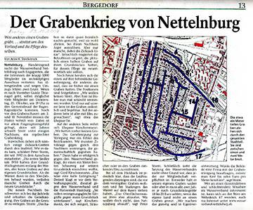 Bergedorfer Zeitung 19.10.07 - Der Grabenkrieg von Nettelnburg