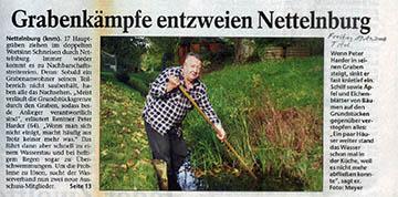 Bergedorfer Zeitung 19.10.07 - Grabenkämpfe entzweien Nachbarn (Titel)